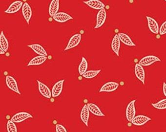 Little leaves, red, Jubilee, Benartex, Style 5495M, cotton, cotton quilt, cotton designer