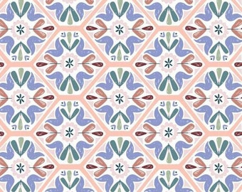 Mosaic tiling, Turtle Cove, 21190604, col 02, Camelot Fabrics, 100% Cotton