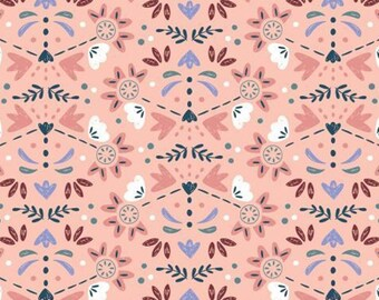 Blossoming flower buds, Turtle Cove, 21190602, col 02, Camelot Fabrics, 100% Cotton