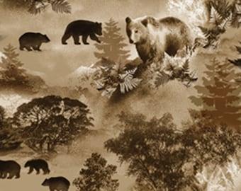 Bear, Lodge Life, 8972, col 07, Benartex, cotton, cotton quilt, cotton designer