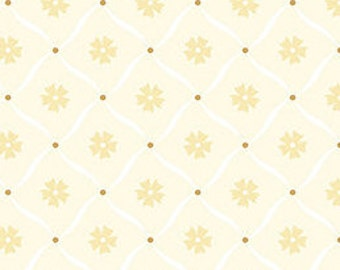 Flower, gold, ivory, métallique, Jubilee, 5492, Benartex, cotton, cotton quilt, cotton designer