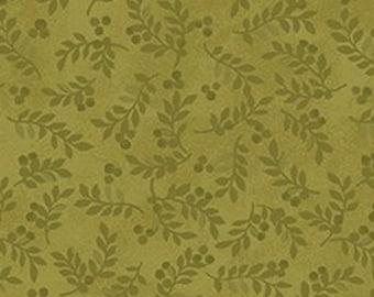 Leaf, green, Harvest Berry, Benartex, 07563, col 43, cotton, cotton quilt, cotton designer
