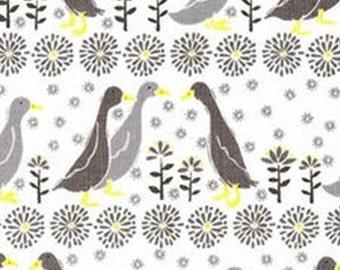 Quack, grey, yellow, white, Village Life, 30180106, Camelot Fabrics, 100% Cotton