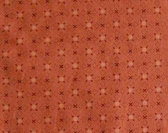 Dark orange, 1957, Henry Glass, 100% Cotton