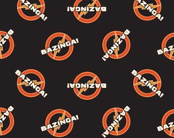 Bazinga, The Big Bang Theory, 23680105, col 01, Camelot Fabrics, cotton, cotton quilt, cotton designer
