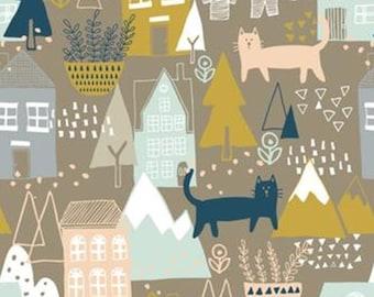 SALE, Cat, house, Neufchâtel, 31180201, col 01, Camelot Fabrics, 100% Cotton, (Reg 3.76-21.91)