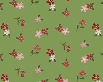 Holly Holiday, Riley Blake Designs, Christmas fabric 100% cotton, #10884 BASIL