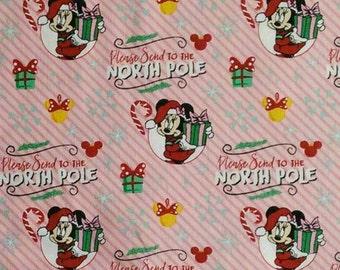 END OF BOLT, Minnie, Disney, North Pole, 85270903, Camelot Fabrics, cotton, cotton quilt, cotton designer