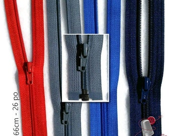 YKK, 63cm, zipper, (25 inchs), varied color, nylon, perfect for clothing, repair, creation, Z58