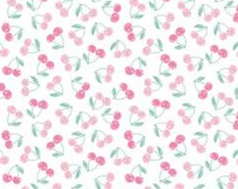 SALE, Mon Cheri, cherry, pink, white, 71190109, col 01, The Girls Collection, Camelot Fabrics, cotton, cotton quilt, (Reg 3.76-21.91)