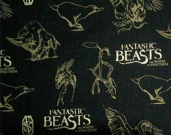 Harry Potter, Wizarding World, Fantastic Beast, 23900102, col 01, Camelot Fabrics, cotton, cotton quilt, cotton designer