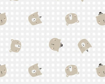 Bear, beige, 21185504, col 03, Big Bear Cuddles, Camelot Fabrics, 100% Cotton