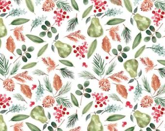 SALE, Bountiful, white, 26180205J, col 02, Camelot Fabrics, 100% Cotton, (Reg 3.76-21.91)