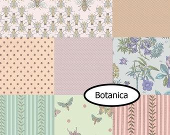 SALE, Bundle, 8 motifs, Botanica, Andover, quilt cotton, designer cotton, (Reg 30.08-136.43)