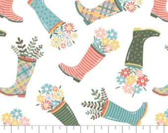 Rain boot, Wish for Rain, 89191002, col 01, Camelot Fabrics, 100% Cotton