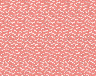 SALE, Sounds in Pink, 21170706, 01, Cluck, Moo, Oink, Camelot Fabrics, 100% Cotton, quilt cotton, (Reg 3.76-21.91)