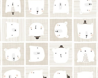Bear, ivory, 21185502, col 03, Big Bear Cuddles, Camelot Fabrics, 100% Cotton