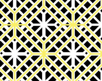 VENTE, Geo Treillis, #C8409, 09, Lemon Twist, Benartex, 100% cotton, cotton quilt, cotton designer, (Reg 3.76-21.91)