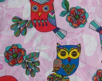 SALE, Owl, pink, Timeless Treasures, 5552, cotton, cotton quilt, cotton designer, (Reg 3.76-21.91)