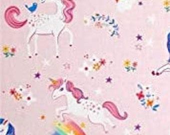 Unicorn, rainbow, 17163, Robert Kaufman, 100% Cotton