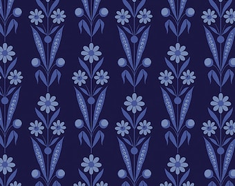 Bouquet Navy, Somerset, 6791, col 55, Benartex, cotton, cotton quilt, cotton designer