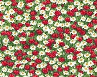Mini Flowers, Village Life, 2297R, Makower, cotton, cotton quilt, cotton designer