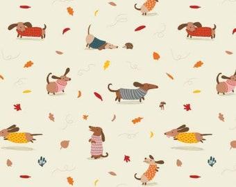 Fabric Dogs, 100% coton, #82200101, CREAM, Sweater Weather de Camelot Fabrics