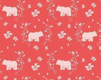 Bear, Strawberry Honey, C10243, CAYENNE, Riley Blake, cotton quilt, cotton designer