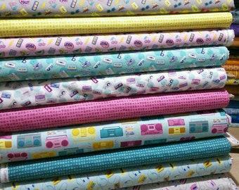 SALE, Bundle of 11 designs, Retro Blast of Camelot Fabrics, 100% cotton, (Reg 41.36-214.39)