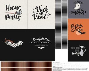 "Panel, 36""X44"", Halloween, P10578, Multiple quantity cut in one piece, 100% Cotton - Spooky Hallow de Riley Blake"