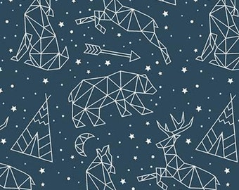 Adventure is Calling of Riley Blake Designs, Fabric animals, NAVY, #10722 , fabric, cotton, quilt cotton