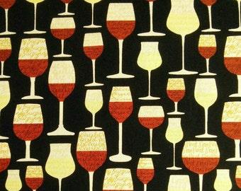 Cup of wine, 5596, Timeless Treasures, cotton, cotton quilt, cotton designer