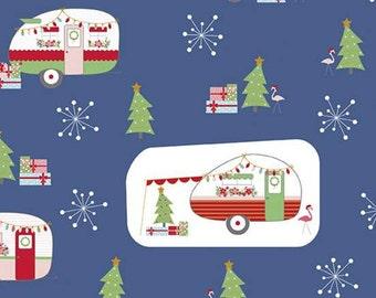 Christmas Adventure, Riley Blake Designs, Christmas fabric 100% cotton, #10730 DENIM