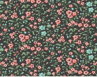 Fabric 100% cotton, Tinsley, 7140801, col 05, CHARCOAL - The Notthingham of Laura Ashley, Camelot fabrics