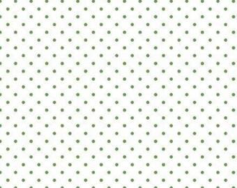 WHITE/CLOVER, 660, Swiss Dot, Riley Blake, cotton quilt, cotton designer, (Reg 3.76-21.91)