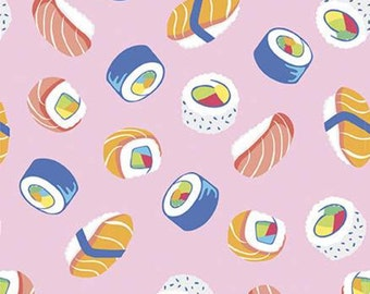 Sushi, PETAL PINK, 10893, Rainbow Fruit, Riley Blake, fabric, cotton, quilt cotton