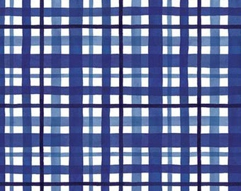 Fabric scottish pattern 100% cotton, #10553 BLUE, variable sizes - At The Lake of Riley Blake