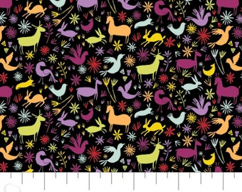 Fabric animals, 100% coton, #30200402, BLACK - Eternally Yours of Camelot Fabrics
