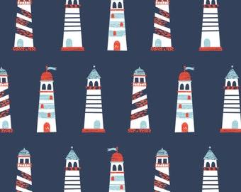 Lighthouse, Nautical, Camelot Fabrics, 89190602, col 03, cotton, cotton quilt, cotton designer