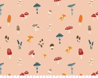 Fabric mushroom, 100% coton, #82200103, PEACH, Sweater Weather de Camelot Fabrics