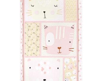 """Panel, Little Friends, 24"""" X 44"""", (60cm x 115cm), Bernartex , 05080, col 01, Multiple quantity cut 1 piece, 100% Cotton, (Reg 13.15)"""