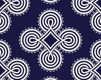 Medaillion Navy, Somerset, 6797, col 55, Benartex, cotton, cotton quilt, cotton designer