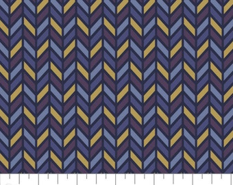 Inner Compass, Metallic gold, navy, violet, purple, Whitten in the stars, 66190502L, col 02, Camelot Fabrics, 100% coton