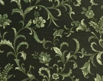 Green, Vine Scroll, Benartex, 05484, col 44, cotton, cotton quilt, cotton designer