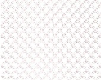 Tuiles, ivory, pink, 21180507, col 01, Camelot Fabrics, cotton, cotton quilt, cotton designer