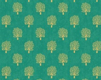 Rhapsody trees, green, 2180, Makower, cotton quilt, cotton designer