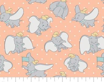 Fabric DUMBO of Disney, peach, #85160305 - My Little Circus of Camelot Fabrics