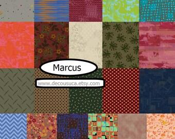 Bundle of 21 prints, Marcus, Marcus Fabrics, 100% coton