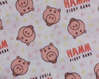 Hamm Toss, Piggy bank, Toy Story 4, Disney, Pixar, 85410306, col 01, Camelot Fabrics, cotton, cotton quilt, cotton designer