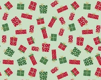 Christmas Adventure, Riley Blake Designs, Christmas fabric 100% cotton, gift, #10734 SWEETMINT